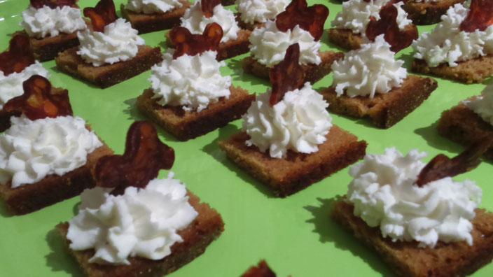 Toast pain d'épices et chorizo