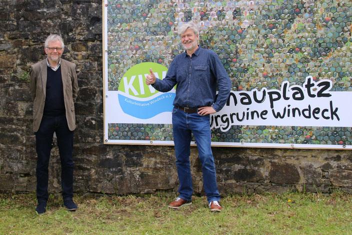 Rainer Land, Rhein-Sieg-Kreis, Leiter des Kultur- und Sportamts, Frank Christgen, 1. Vorsitzender der KulturInitiative Windeck e.V., Foto: Jürgen Jenniges