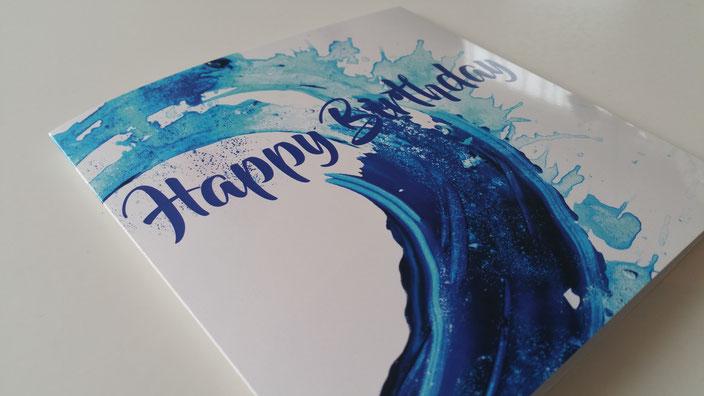 Kunst - Geburtstagskarte mit Spende an die Stiftung Theodora