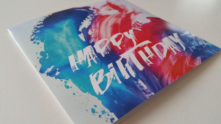 Firmenkarte zum Geburtstag für Kunden, Mitarbeiter inklusive Spende an Stiftung