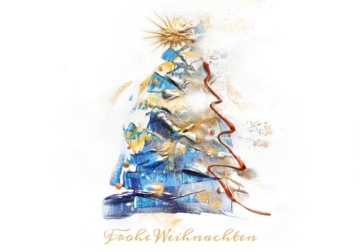 Hochwertige - Weihnachtskarten auf speziellem Papier inklusive Spende an Stiftung Sternschnuppe