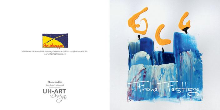 Firmen - Weihnachtskarte mit gutem Zweck für die Stiftung Sternschnuppe