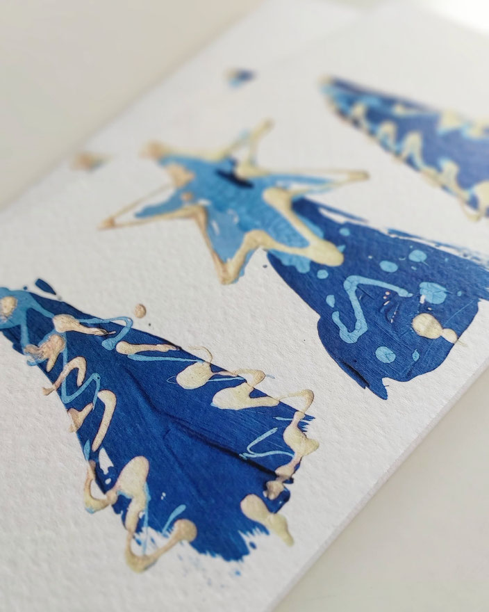 Spendenkarte für die Stiftung Theodora - Weihnachtskarte von Uh-ART Design
