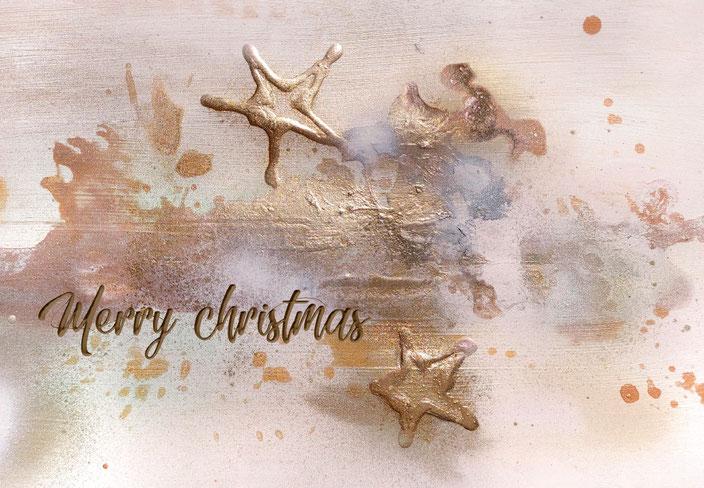 Goldene Weihnachtskarte für die Stiftung Kinderhilfe Sternschnuppe (inklusive Spende)