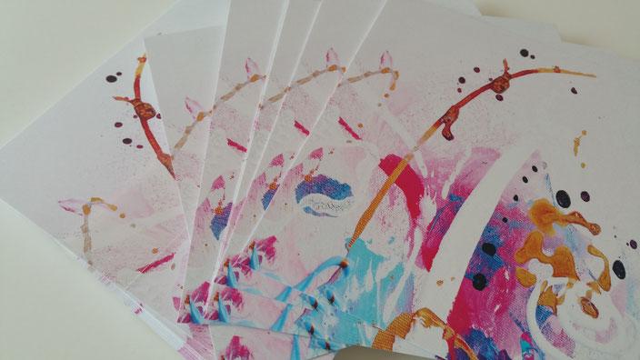 Konfetti_ Postkarten bunt und fröhlich von UH-ART Design Rupperswil