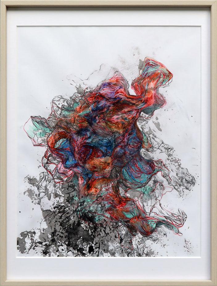 Bleistift, Farbstift und Tusche auf Papier, 2017, 30x40cm