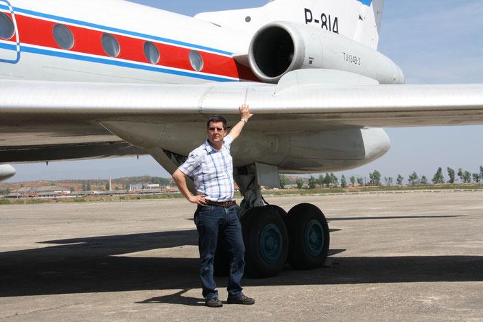 Mirko Schinnerling in Nordkorea mit einer TU 348-3