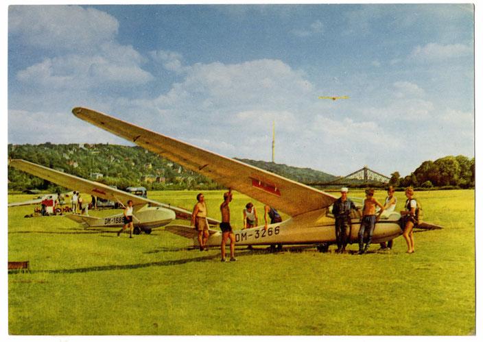 Für Siegfried Wrietz: an den Elbwiesen - der schönste Segelflugplatz der Welt