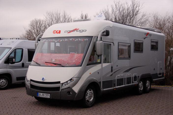 Wohnmobil Carthago e-Line 51 QB; 5000kg, drei Achsen, Frontantrieb. Besitzer Gruenenthal