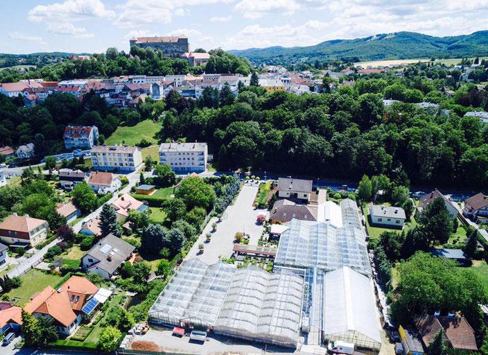 Gärtnerei Luftaufnahme
