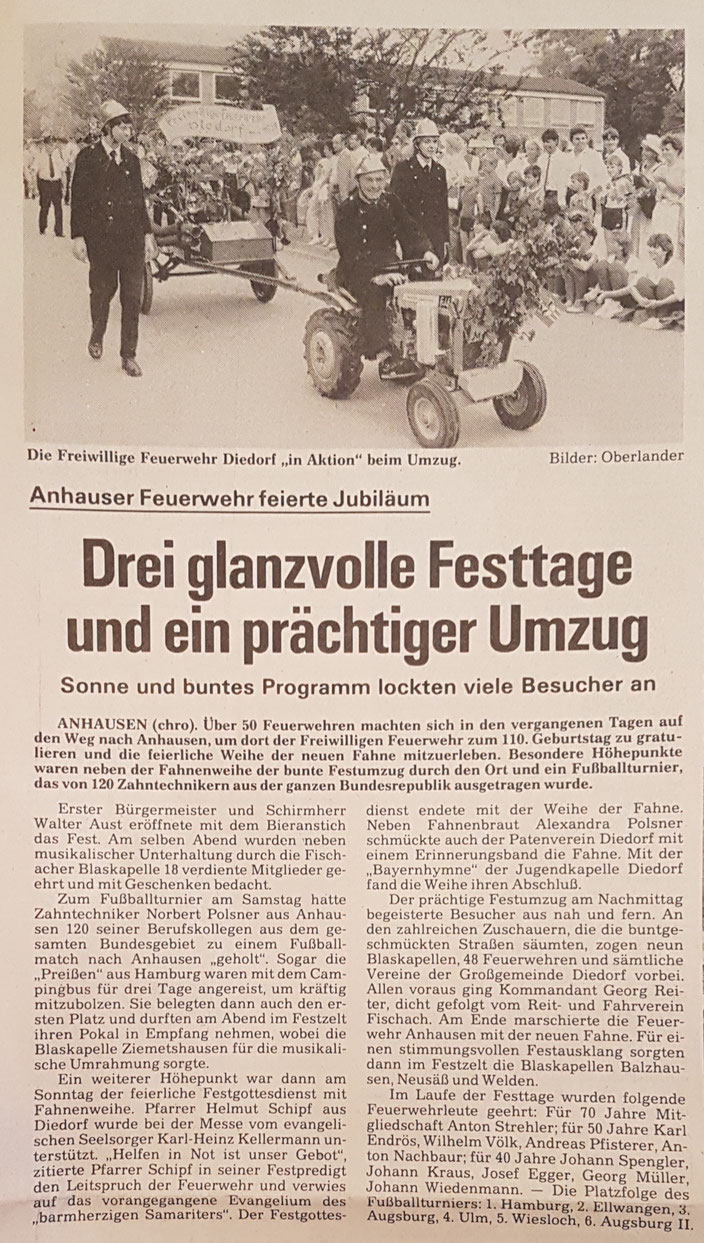 Augsburger Landbote, 9. Juli 1985