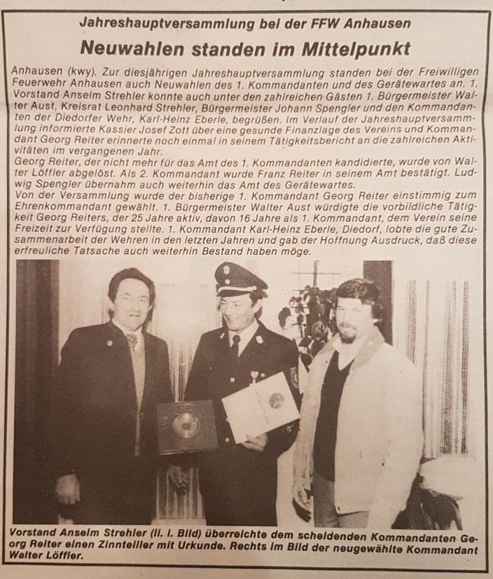 Neue Zeitung, 29. Januar 1986