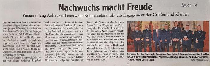Augsburger Allgemeine, 20. Februar 2018
