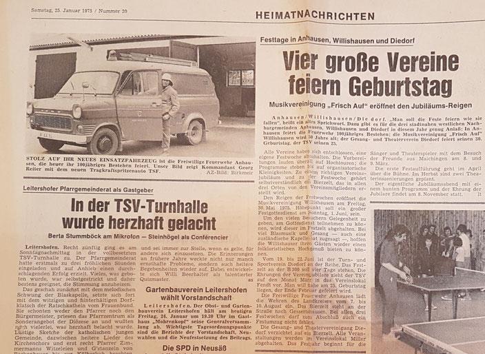 Augsburger Landbote, 25. Januar 1975