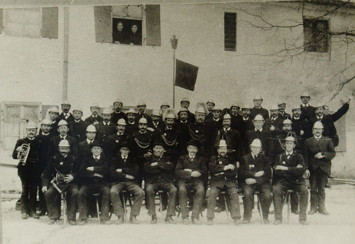 Bild der FF Anhausen von 1900