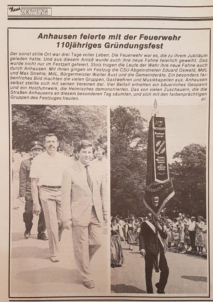 Neue Zeitung, 10. Juli 1985