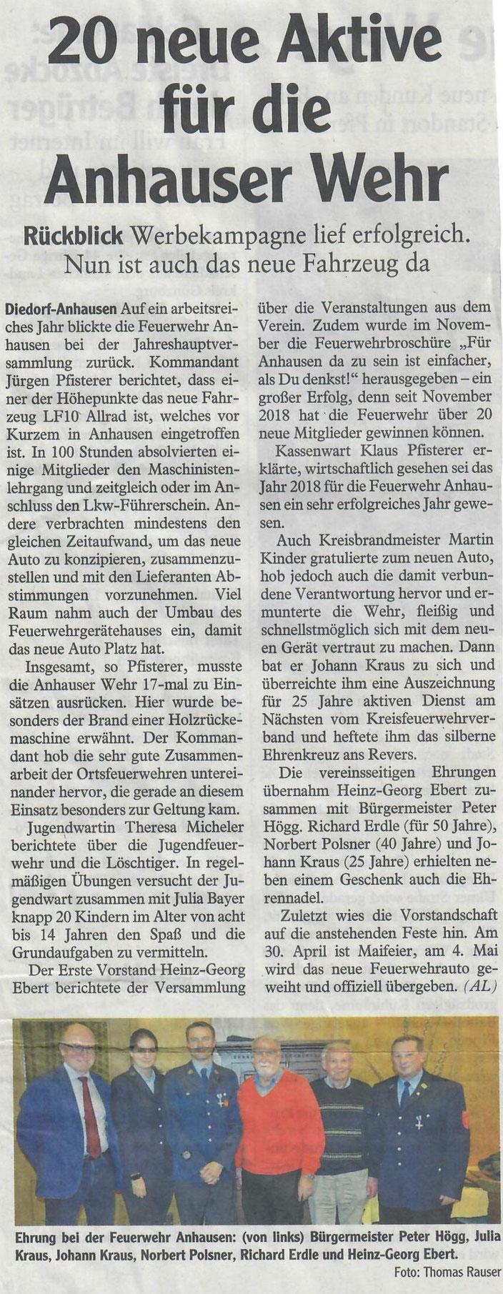 Augsburger Allgemeine, 15. März 2019