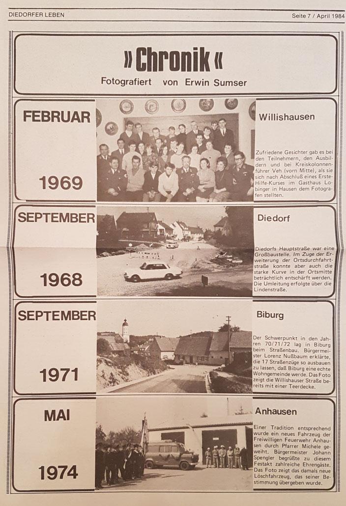 Diedorfer Leben, April 1984