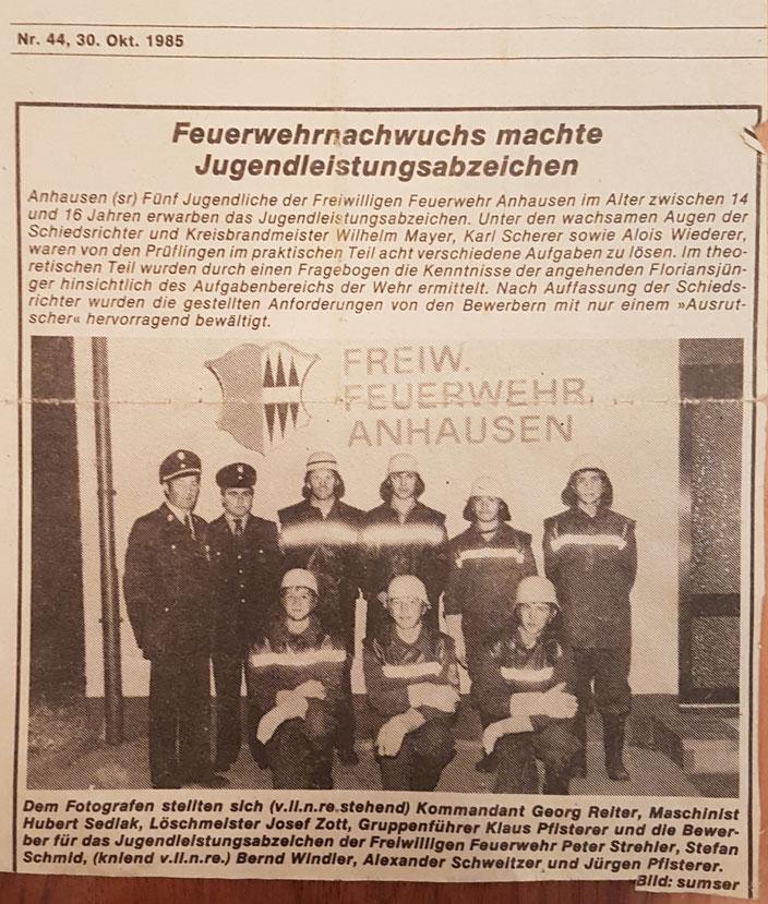 Stadtzeitung West, 30. Oktober 1985