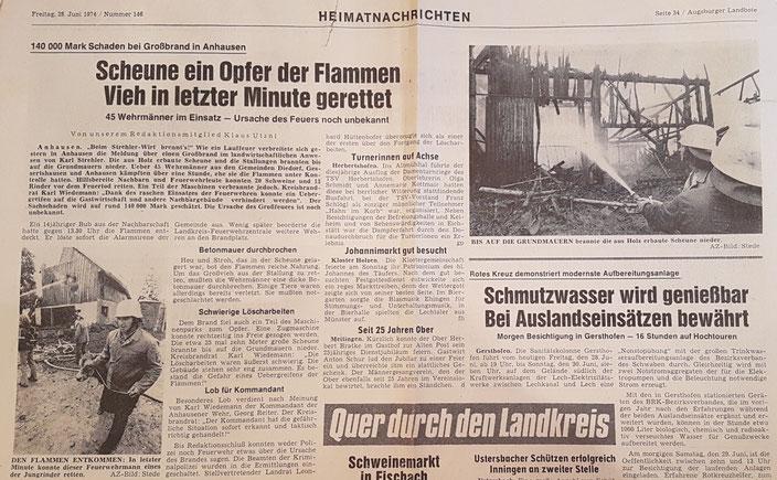 Augsburger Landbote, 26. Juni 1974