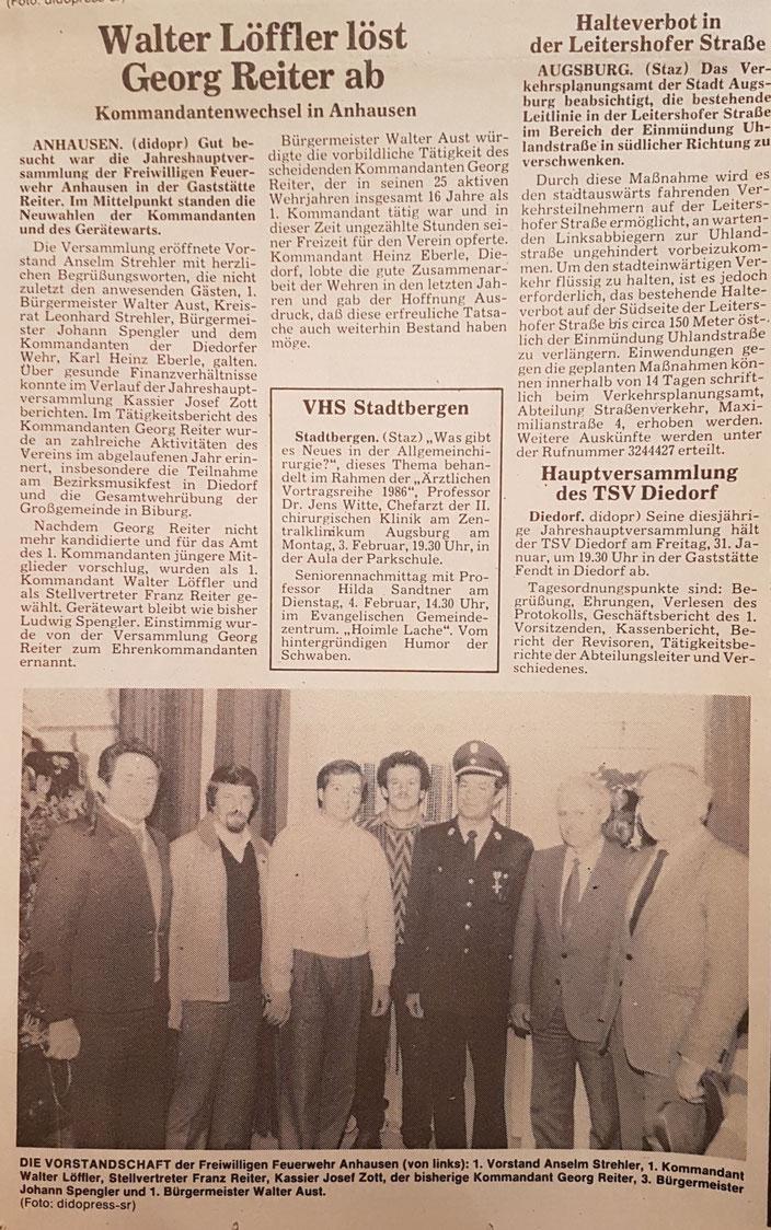 Stadtzeitung West, 30. Januar 1986