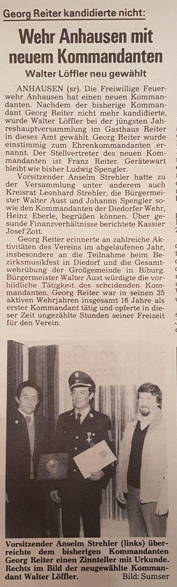 Augsburger Landbote, 18. Januar 1986