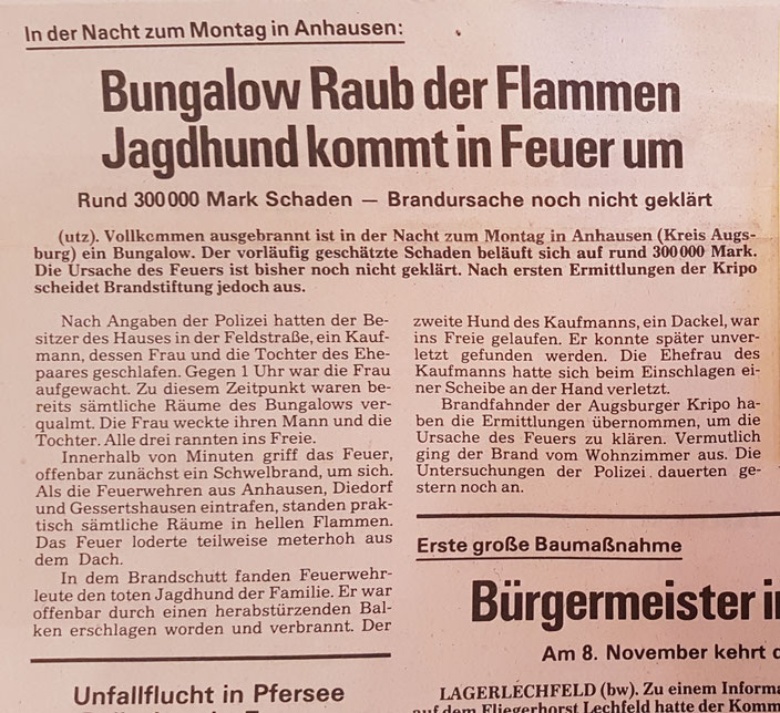 Augsburger Landbote, 9. November 1982