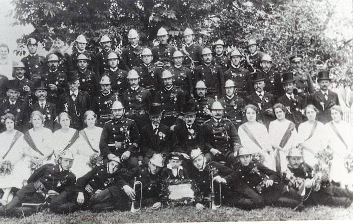 Bild von 1925 vom 50 jährigen Jubiläum der FF Anhausen