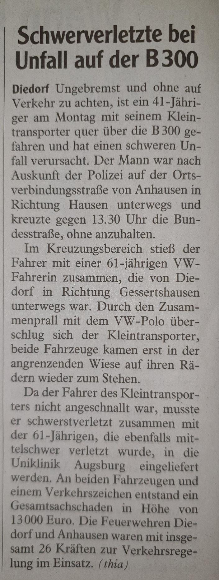 Augsburger Allgemeine, 29. April 2020