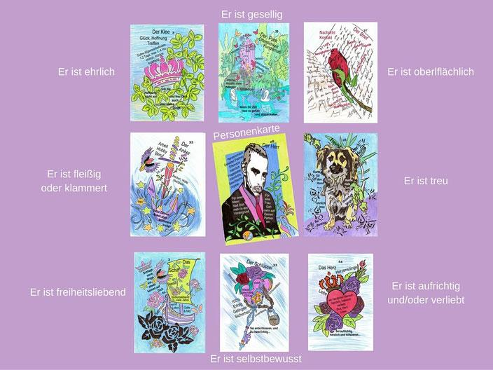 Kartenlegen lernen: Beispiel Eigenschaft bei Personen