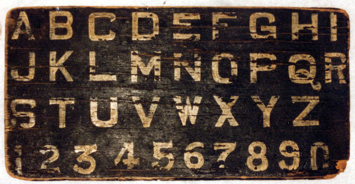 Meher Baba's actual alphabet board