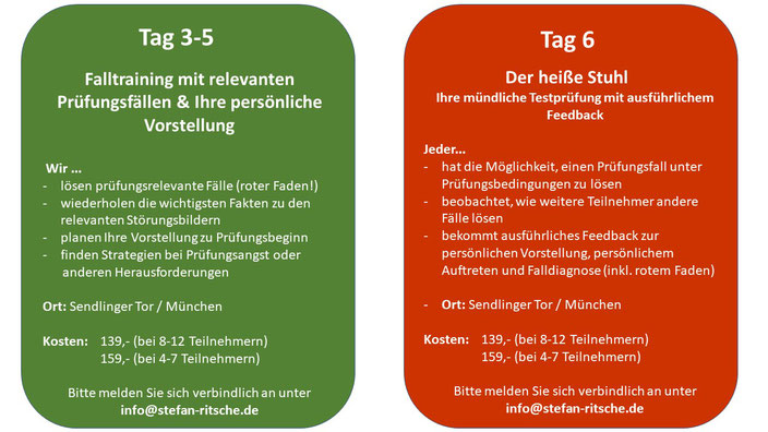 Prüfungsvorbereitung HP Psych München Zentrum
