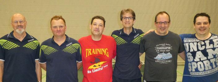 li. nach re.; 2. Platz Wolfgang und Adam, 1. Platz Christian und Thomas, 3. Platz Konrad und Andreas