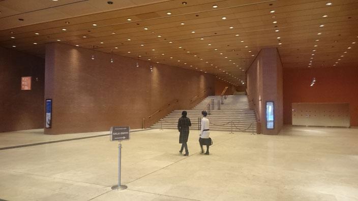 Das Foyer des Auditoriums Parco della Musica schaut ähnlich aus wie jenes im Linzer Musiktheater. Es dient nicht nur als Zugang zu den drei Konzertsälen, sondern ist auch ein Ort der Begegnung und Versammlung.