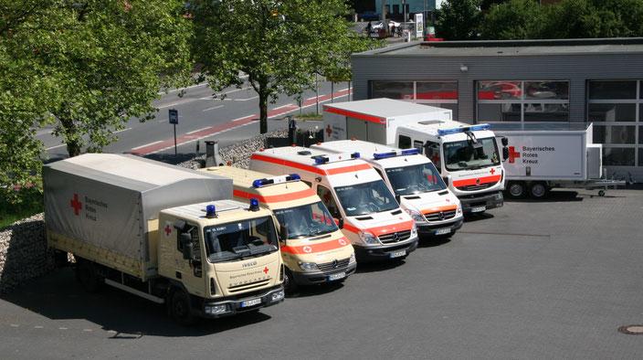 Gruppenbild unserer Fahrzeuge