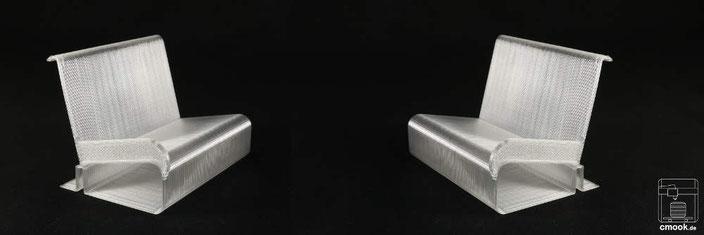 3D-Druck Produkte Praktisches Kartenbank Lehne links Lehne rechts