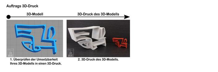 3D-Druck Dienstleistungen Auftrags 3D-Druck Beispiel chimaumau 3D-Modell 3D-Druck