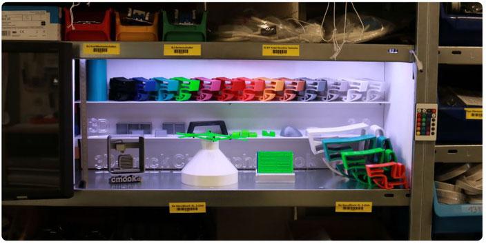 Ausstellung 3D-Drucke und 3D-Druck Produkte