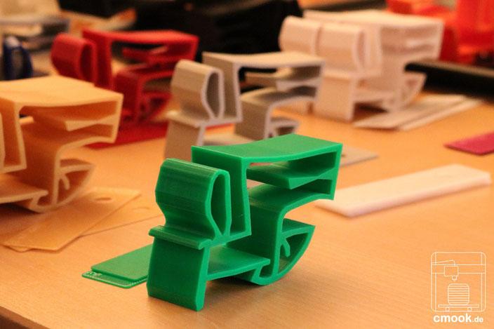3D-Druck Dienstleistung Kleinserie Beispie chimaumau und Farbmuster