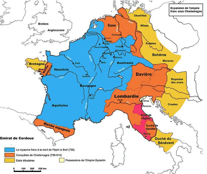 Charlemagne devient un empereur puissant à la tête d'un immense empire. Il est annoncé dans la prophétie de Daniel 11:7.