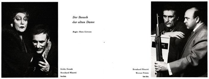 Schiller-Theater, Heft 65, 1956-1957 - Der Besuch der alten Dame - Käthe Dorsch/Bernhard Minetti/Werner Peters