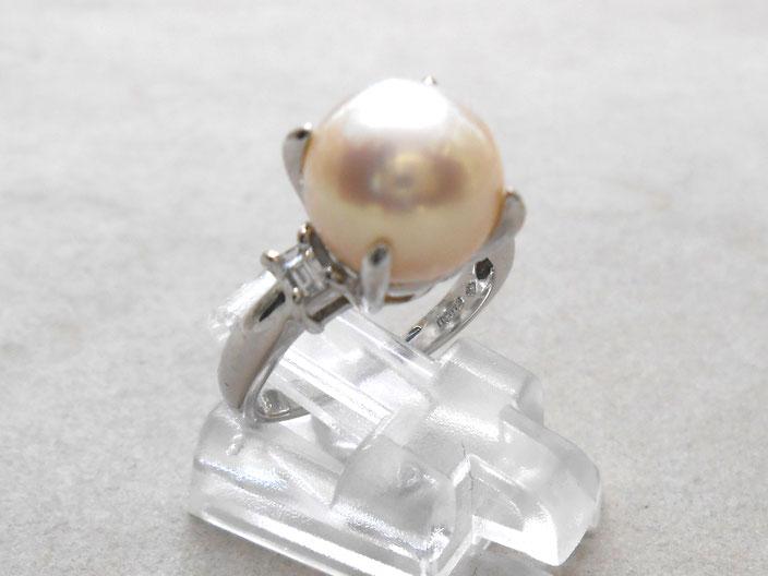 プラチナ リング 指輪 パール 真珠