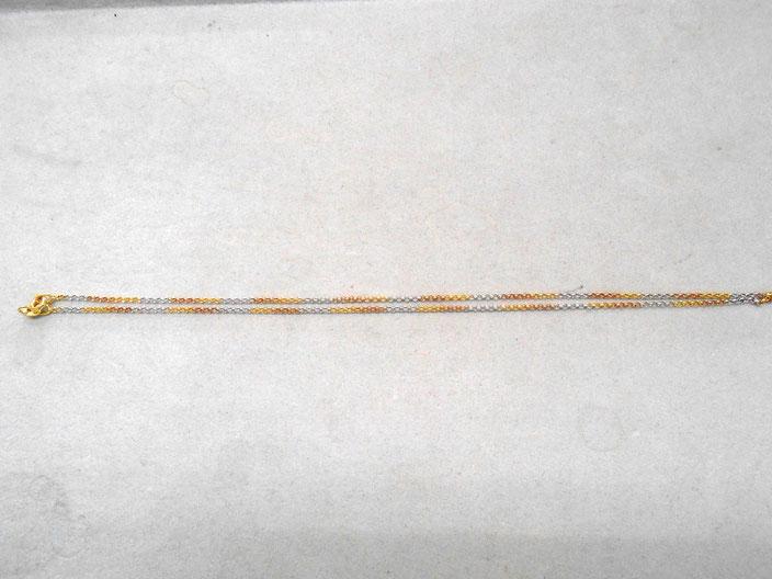 18金 ホワイトゴールド ネックレス