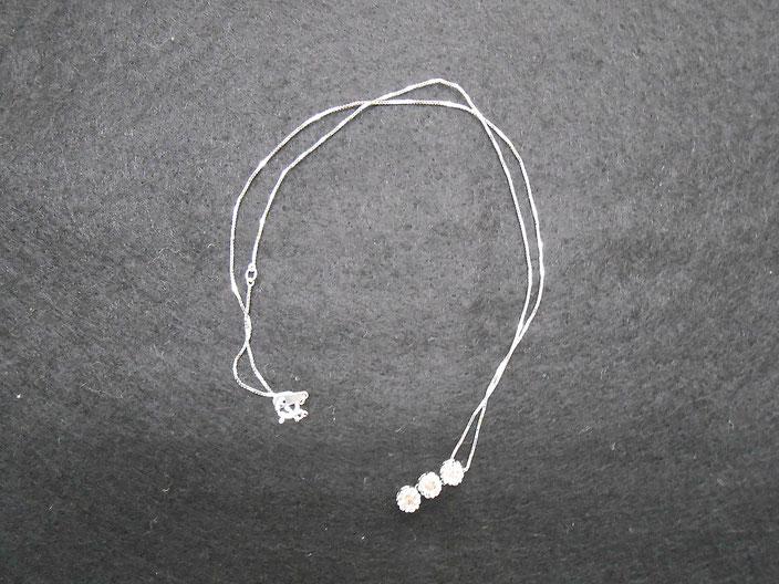 14金 ホワイトゴールド ダイヤ ネックレス