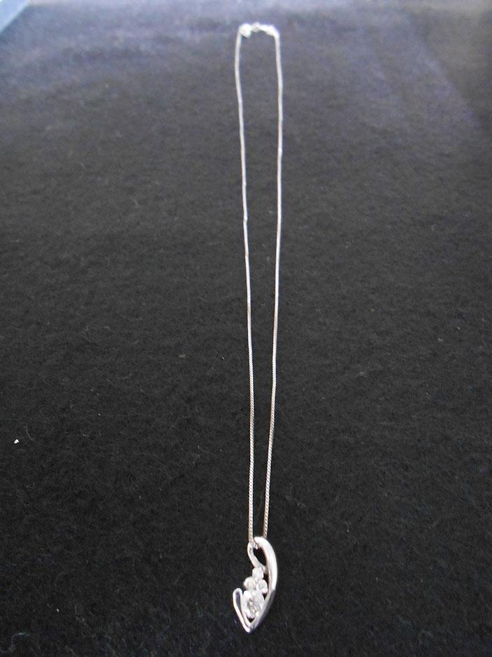 18金 ホワイトゴールド ダイヤ ネックレス