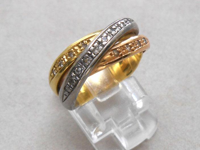 プラチナ 18金 リング 指輪
