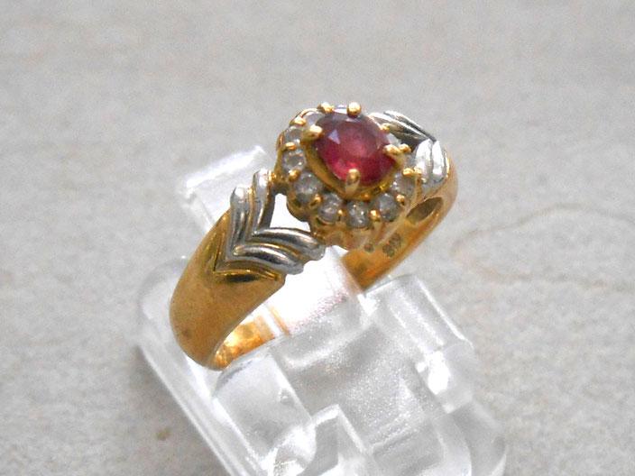 貴金属 プラチナ 18金 リング 指輪