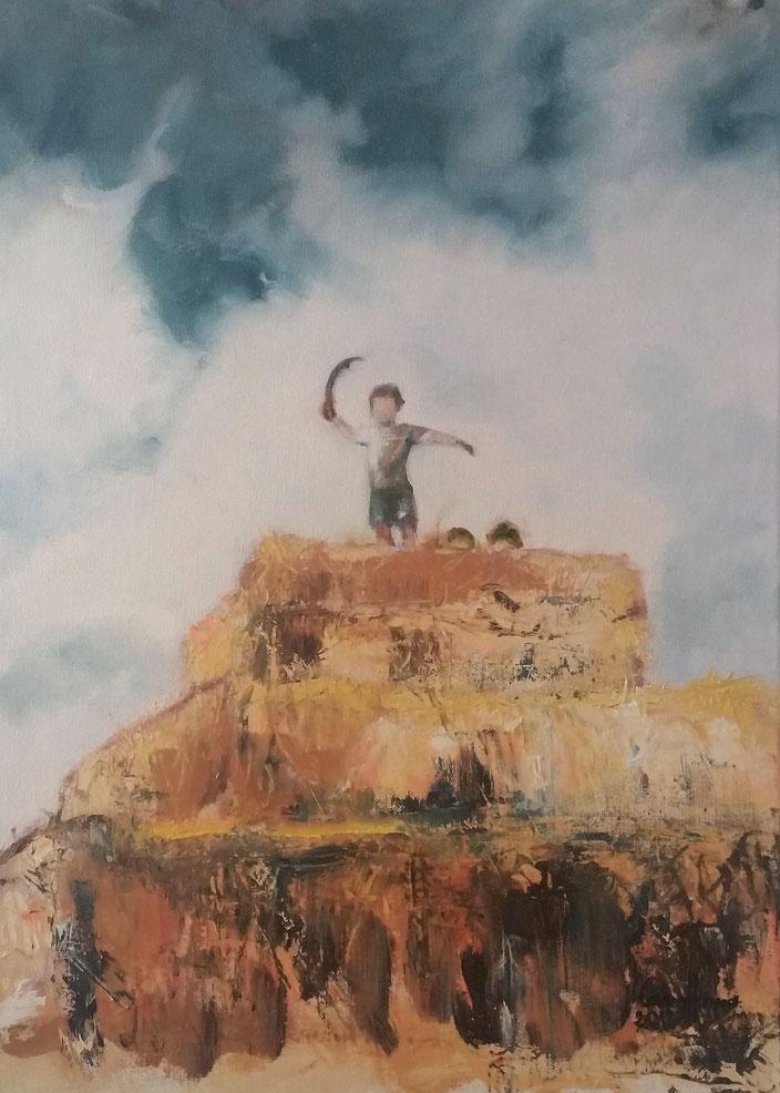 """""""Piratas"""", """"Pirates"""", oil on canvas, 70X50 cm., 2018, Carmen moreno."""