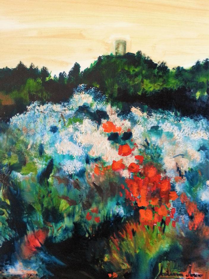 """SANT LLORENÇ DE LA MUGA"", Óleo sobre lienzo, 60X70x2 cm., oil on canvas, 96."
