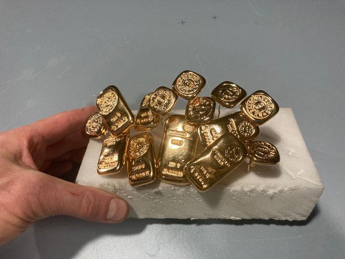 mini Goldbarren Attrappen